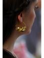 Mono boucle d'oreille créole Peul Fulani dorée à la feuille d'or
