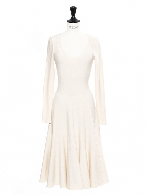 8c1b41ec62a Off white stretch jersey long sleeved striped long dress Retail price €2200  Size 36