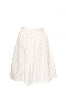 Floral printed pleated cotton midi skirt Retail price €160 Size L
