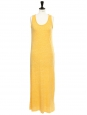 MASSACHUSETTS Heather banana yellow cotton maxi dress Retail price