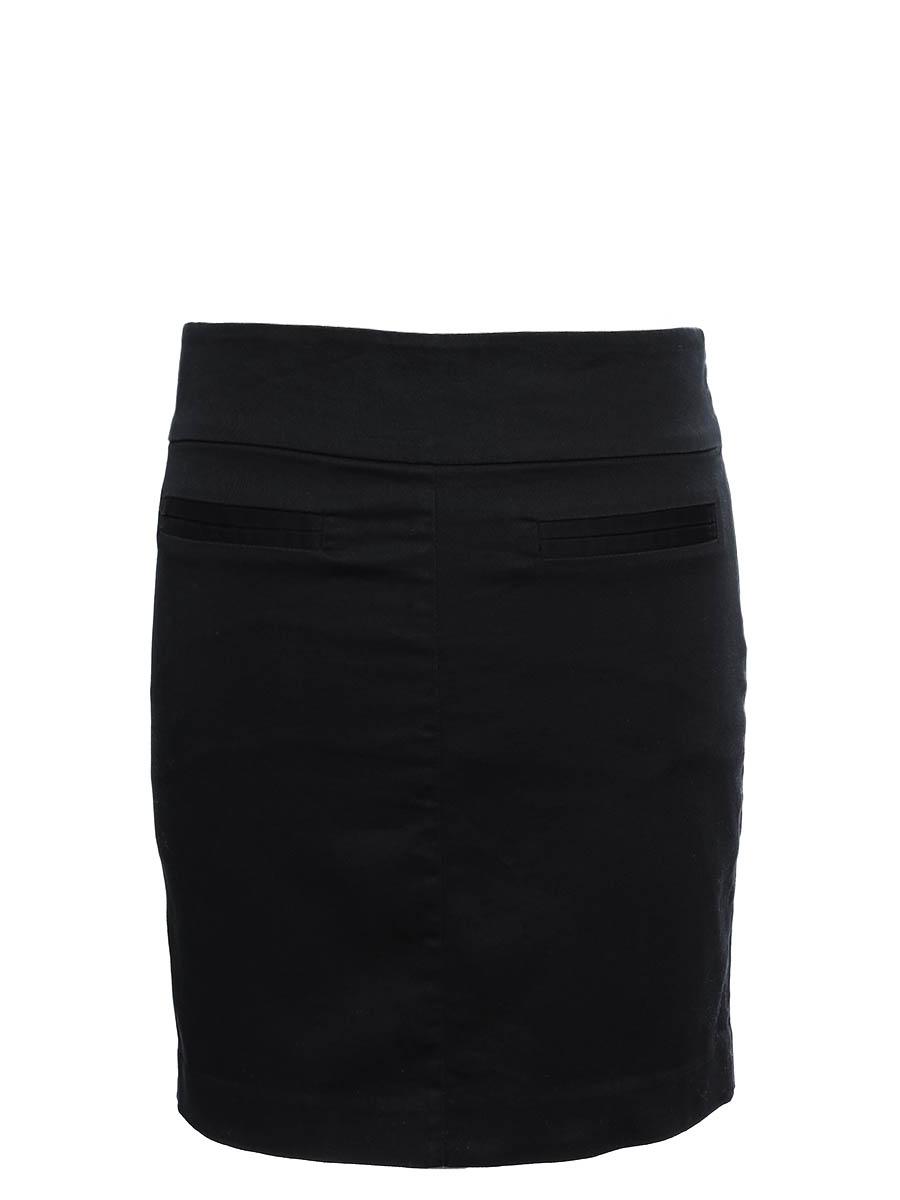 louise paris jupe courte droite en coton noir taille 38. Black Bedroom Furniture Sets. Home Design Ideas
