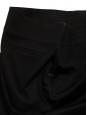 Jupe courte droite en coton noir Taille 38