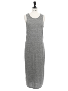 Robe longue en jersey gris chiné THE PERFECT MUSCLE TEE Prix boutique 120€ Taille 36