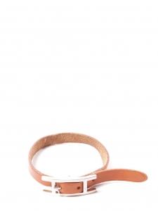 Bracelet HAPI 3 MM multi tours fin en cuir marron et boucle argent Px boutique 278€