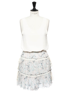 Printed silk and cotton ruffled skirt Retail price €360 Size 36
