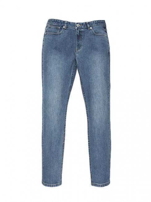 Jean moulant bleu medium slim fit taille haute cropped Prix boutique 160€ Taille XS (25)