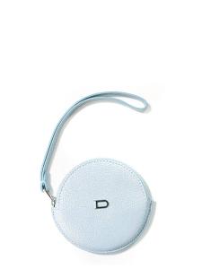 Porte monnaie en cuir galuchat bleu ciel NEUF Prix boutique 500€