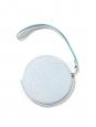 Sky blue stingray leather round wallet NEW Retail price €500