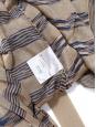 Gilet long ceinturé en maille fine beige rayée bleu Prix boutique 130€ Taille 36
