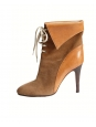 KATHLEEN Camel brown suede lace up ankle boots Retail price €595 Size 36