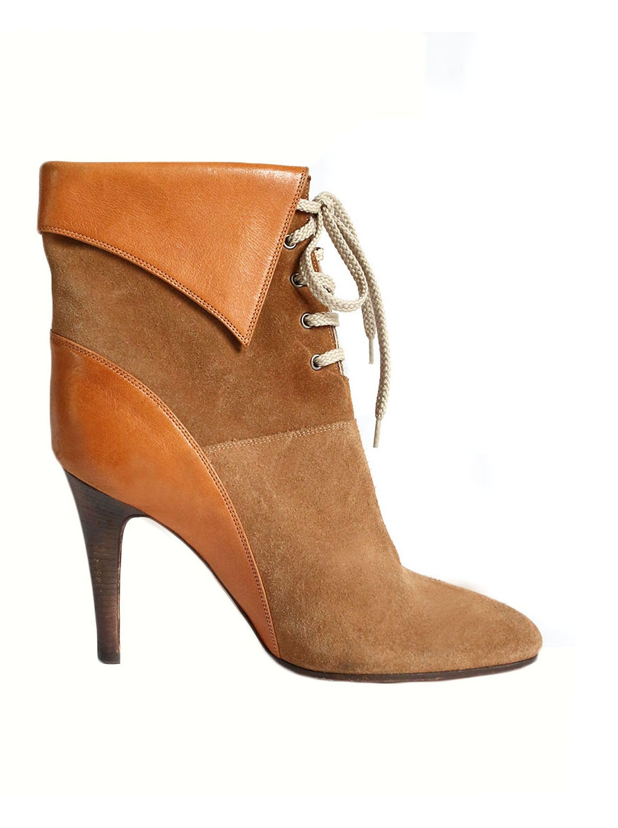 Women/'s Maciejka Chole Brown Leather Ankle Boots