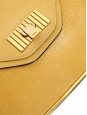 SALLY Apricot yellow grained leather shoulder bag and gold chain Retail price €1710