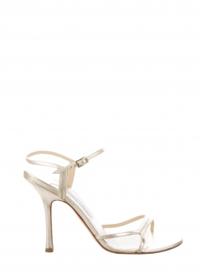 Gold nappa leather strappy heeled sandals Retail price €500 Size 39.5