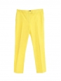 Finley yellow gabardine cotton tailored pants Retail price €300 Size 36/38