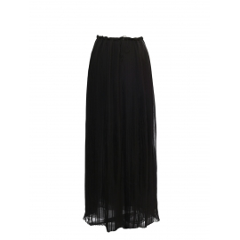 Black plissé-chiffon maxi skirt Retail price €1500 Size 38