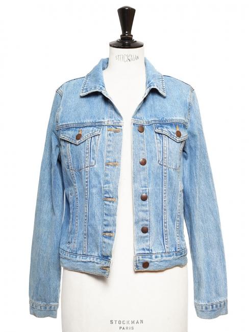 Veste courte en jean bleu medium Taille 34
