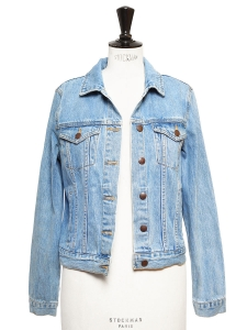 Washed blue denim jacket Size 36