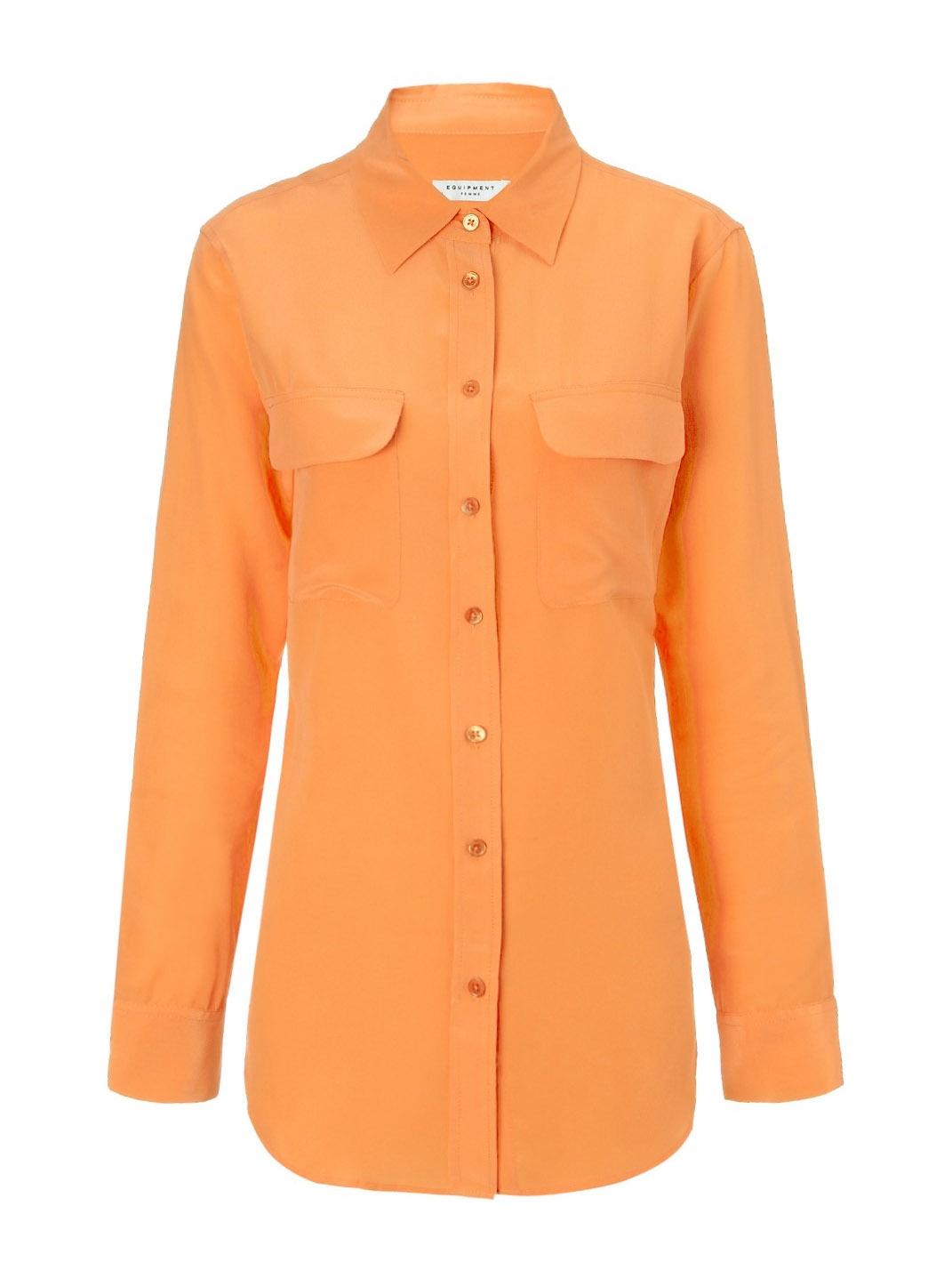 4aacab8ad Louise Paris - EQUIPMENT Signature apricot orange silk shirt Retail price  €220 Size S