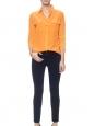 Chemise manches longues Signature en soie orange Px boutique 220€ Taille S