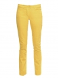 Honey yellow stretch cotton slim fit low waist denim jeans Retail price €280 Size 38
