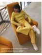 Jean slim fit taille basse en coton stretch jaune soleil Prix boutique 280€ Taille 34