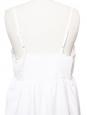 Robe d'été à bretelles fines en coton brodé blanc Taille 38/40
