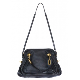 PARATY midnight blue leather medium shoulder bag Retail price 1450€