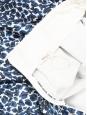 Janet high-waist skater blue black and white neopren printed skirt Size 36