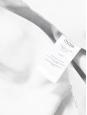Jupe patineuse Janet taille haute en néoprène imprimé blanc, noir et bleu Px boutique 195€ Taille 38