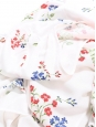 Robe longue ceinture ruban imprimé fleuri liberty blanc bleu et vert Taille 36/38