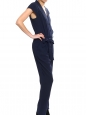 Black jersey front draped sleeveless jumpsuitRetail price $175 Size 34