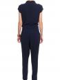 Combi-pantalon sans manches drapée en jersey noir Px boutique 175$ Taille 34