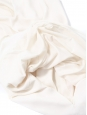 Sleeveless ivory white crepe slit neck dress Retail price €195 Size 38