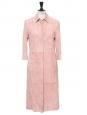 Manteau veste longue en suède rose dragée Prix boutique 3000€ Taille 36