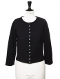 Black cotton round neck cardigan Retail price 125€ Size M/L
