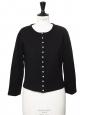 Black cotton round neck cardigan Retail price 125€ Size M/L