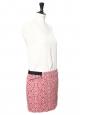 Mini jupe en coton biologique rouge brodé blanc Prix boutique 115€ Taille 38/40