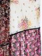 Thin straps red pink and yellow silk chiffon dress Size 36/38