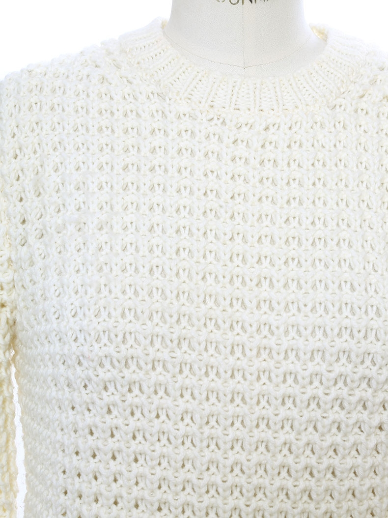 2bc9d275e3 ... LINA PINEAPPLE Cream white chunky open-knit sweater Retail price €240  Size S ...