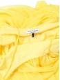 Robe longue à fines bretelles en mousseline jaune citron Prix boutique 395€ Taille 36