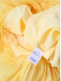 Citrus yellow chiffon spaghetti strap long dress Retail price €395 Size 36
