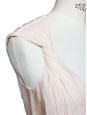 Powder pink beige pleated silk dress Retail price €500 Size 34