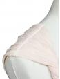Robe en satin et crêpe de soie plissée beige poudre Px boutique 500€ Taille 34