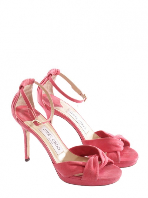 d6fc5738235 Louise Paris - JIMMY CHOO Macy pink suede stiletto heel sandals ...