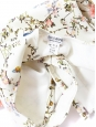 Japanese floral print ivory white one piece swimsuit Size 36