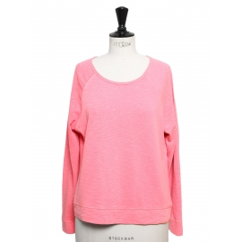 Pull sweat col rond en coton rose Taille 36