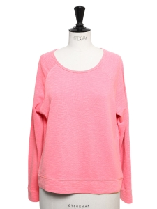 Pull sweat col rond en coton rose Px boutique 110€ Taille 36