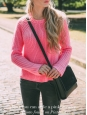 Pink cotton round neck jumper Retail price €110 Size 36