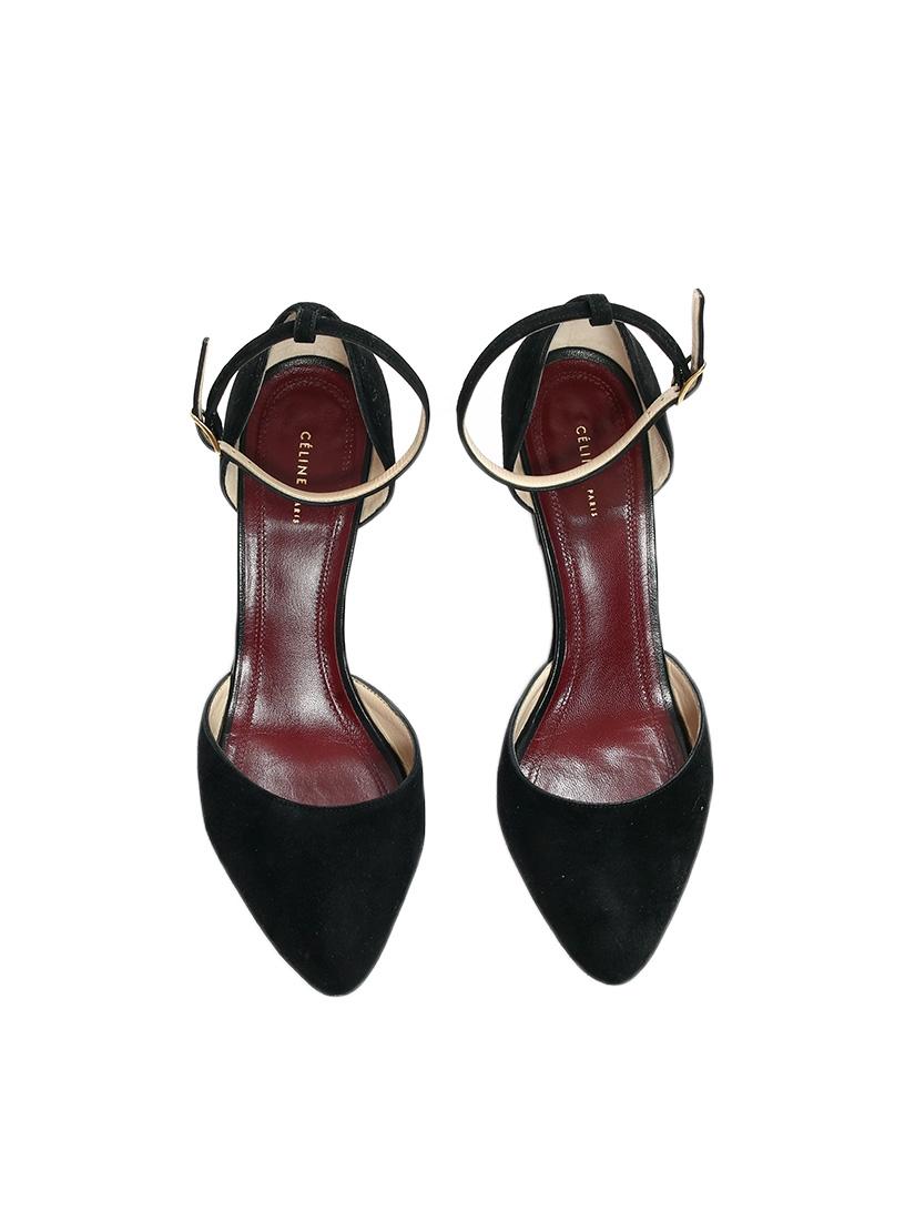 low priced a8ea6 90ddf celine-escarpins-talon-compense-bride-cheville-suede-noir-taille-39-5.jpg