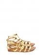 Sandales plates gladiator en cuir doré Prix boutique 550€ NEUVES Taille 37,5